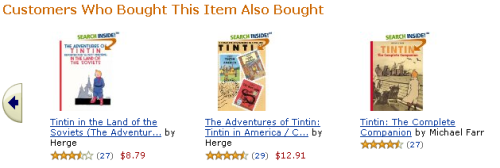 Amazon's familiar recommendation engine
